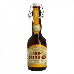 BON SECOURS Belgian Blond beer 33 cl by Caulier Brewery
