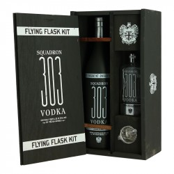 Vodka SQUADRON 303 Flying Flask Kit Flask Gift Box + 2 Shooters
