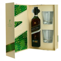 COFFRET JOHNNIE WALKER GREEN LABEL + 2 VERRES