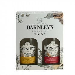 DARNLEYS London Dry Gin & Spiced Gin  2 X 20 cl Gift Box