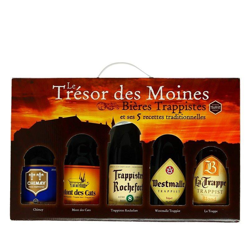 Trappist Beer Gift Box Trésor des Moines (Monks Treasures)  5X33cl