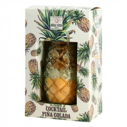 QUAI SUD Mix for PINA COLADA in a ANANAS Shape Glass