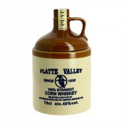PLATE VALLEY Sandstone Jug Corn Whiskey Missouri
