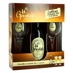 La GOUDALE BLONDE Beer Gift Box 2 x 75cl + 2 Glasses