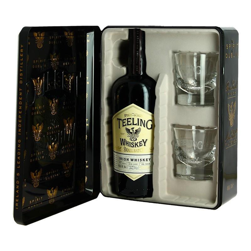 TEELING Irish WHISKEY Small Batch  Gift Box + 2 Glasses