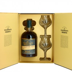 Gift Box CHAIRMAN'S Reserve Forgotten Casks Rum St Lucia 70 cl + 2 Glasses
