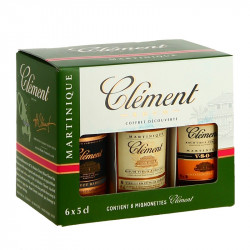 Gift Set of 6 x 5 cl Rum CLEMENT Miniatures