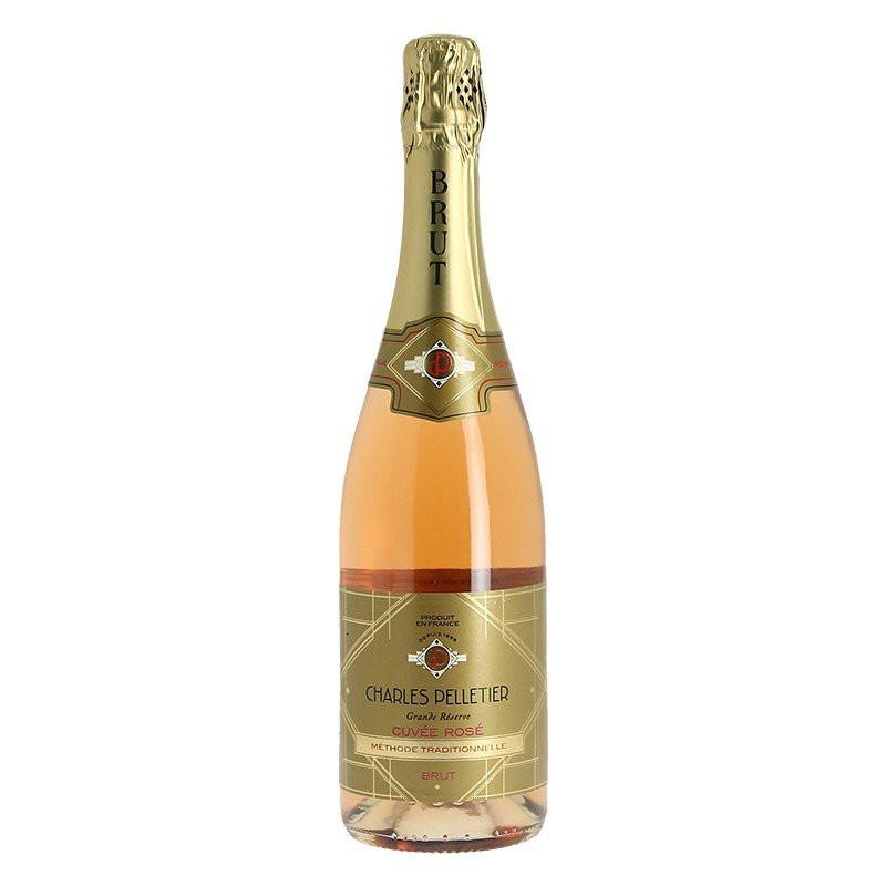 Charles Pelletier Rosé Sparkling Wine Traditional Method