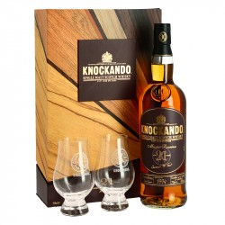 Gift Box Knockando 21 years Master Reserve Speyside Whiskey + 2 Glasses