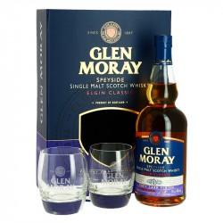 COFFRET GLEN MORAY PORT CASK FINISH  2 VERRES