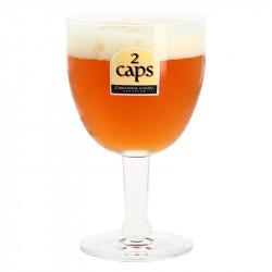 2 CAPS Beer Glass