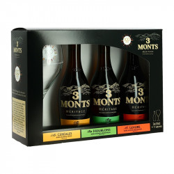 TROIS MONTS Héritage Beer Gift Box 3x33 cl + 1 Glass