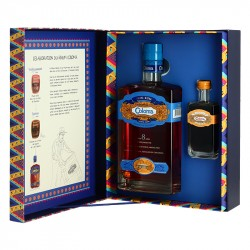 COLOMA 8 years old rum Gift Box + 1 Coloma Coffee Liqueur Mini Bottle