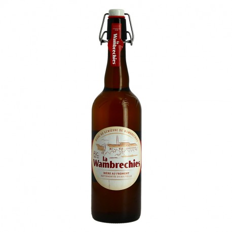 La WAMBRECHIES Belgian Blonde Beer Juniper Flavored 75cl