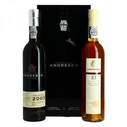 Port Wine Andresen Gift Box White 10 Years Old + Colheita 2003
