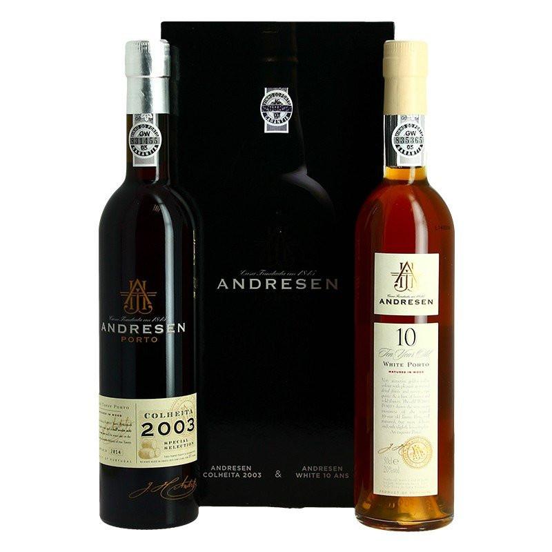 COFFRET ANDRESEN WHITE 10 ANS + COLHEITA 2003