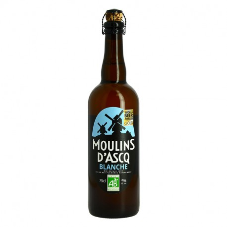 Moulins d'Ascq Organic Craft White Beer 75cl