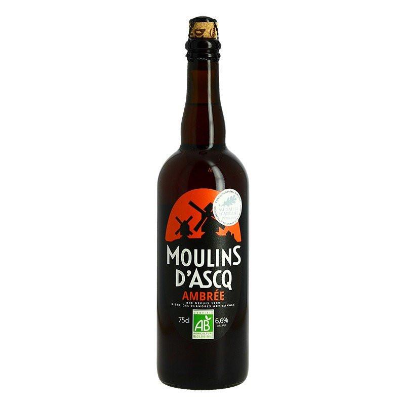 Moulins d'Ascq Ambrée Beer Organic Beer 75cl
