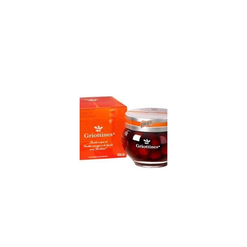 Griottines Wild Morello Cherry Soaked in Kirsch and Cointreau Flavoured by Pereux Distillery 50 cl