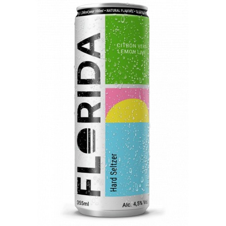 Hard Seltzer FLORIDA Lime Aroma Sparkling Alcoholic Water 35.5 cl