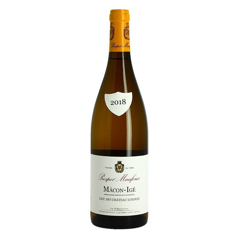 Macon Ige lieu dit Château London by Prosper Maufoux 75 CL Burgundy white wine