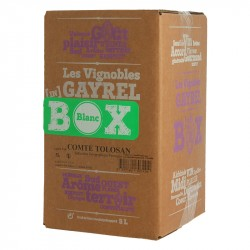5 Litres White Wine in a Box by Alain GAyrel South West region wine Comté Tolosan