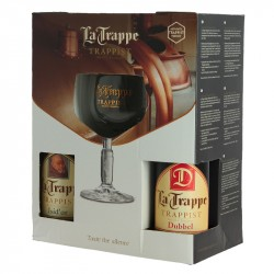 Trappist Beer Gift Box La Trappe 4 x 33 cl + 1 Beer Glass