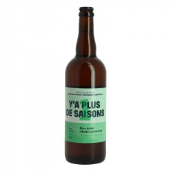 Y'A Plus de  Saisons  Wheat beer and barley malts Infused with Verbena 75 cl