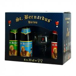 SAINT BERNARDUS Gift Box Belgian Beers 6X33 cl + 2 Beer Glasses