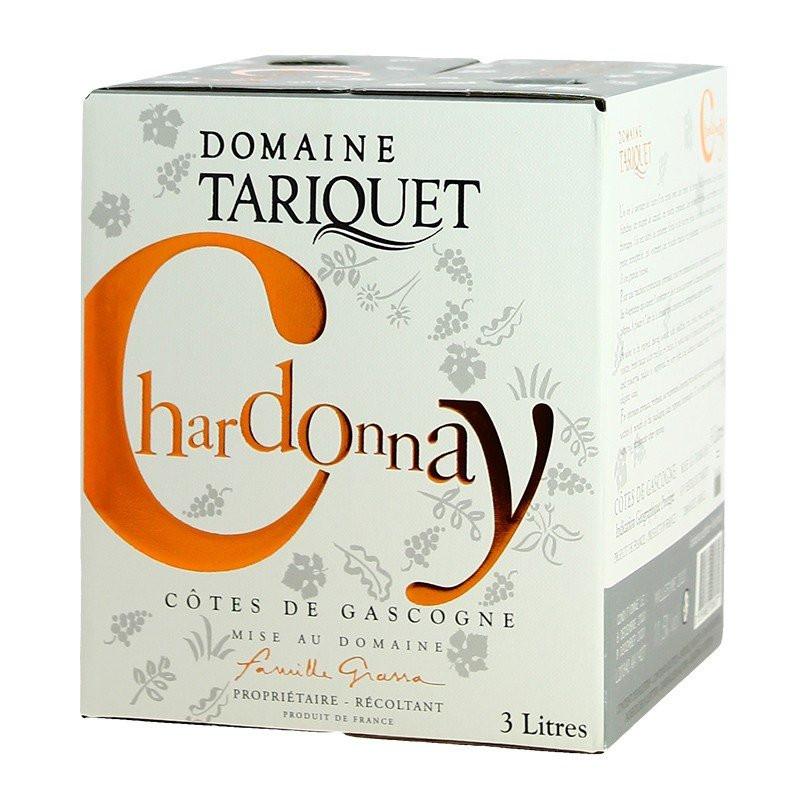 TARIQUET Wine Box of chardonnay white wine 3 Liters