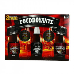 FOUDROYANTE Gift Beer Box 3 x 37.5 cl + 2 Glasses