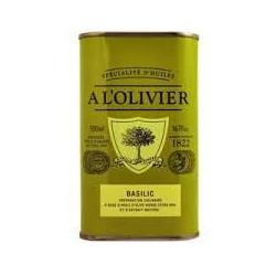 Huile d'olive Ail et Thym A l'Olivier - Bidon vert 25 cl