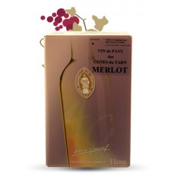 Bag in Box Wine VIGNE LOURAC Red Merlot Cotes du TARN Wine 5 Litres