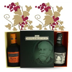 GIFT BOX MINI DIPLOMATICO 2X35CL