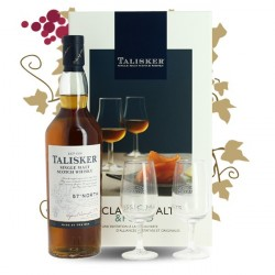 Coffert Whiskey Talisker North 57 + 4 glasss + livret de recettes