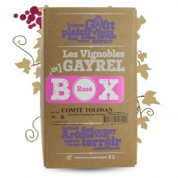 Bag in Box Rosé Wine Comté TOLOSAN GAYREL 5 Litres