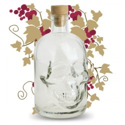 BOUTEILLE VIDE SKULL ABSINTHES