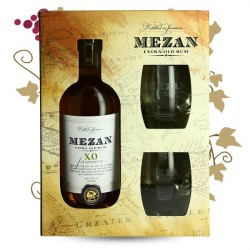 MEZAN JAMAICA Rum XO + 2 Glasses in a Gift Pack