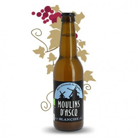 Moulins d'Ascq Organic French White Beer 33 cl